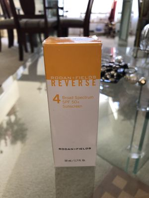 Rodan and Fields Reverse #4 Broad Spectrum SPF 50 for Sale in Corona, CA