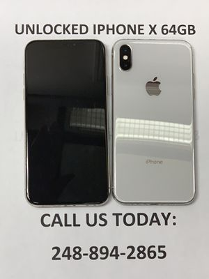 SALE: Unlocked iPhone X 64gb Used Silver Excellent Condition for Sale in Oak Park, MI