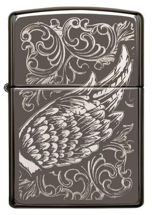 Zippo filigree flame and wing design black ice 29881 for Sale in Los Angeles, CA