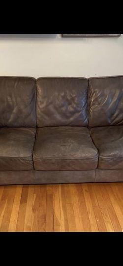 Genuine Leather Sofa for Sale in Alexandria,  VA