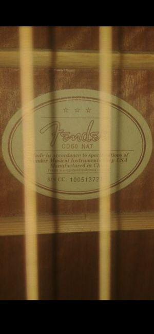 Fender Acoustic Guitar with hard case for Sale in Seattle, WA