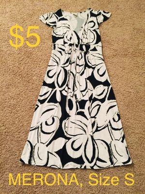 MERONA, Black & White Floral Dress, Size S for Sale in Phoenix, AZ