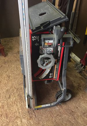 "10"" blade, 15 amp table saw for Sale in Kent, WA"