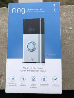 Ring video doorbell wireless work on any home quick and easy to install for Sale in Villa Park, IL