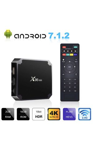 Android 7.1.2 TV Box, X96 Mini Android TV Box - 2GB RAM+16GB ROM AMLOGIC S905W Quad-core Cortex-A53 for Sale in Wichita, KS