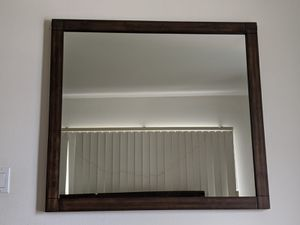 "Like New - Crown Mark Wood Framed Mirror 36x36"" for Sale in Manhattan Beach, CA"