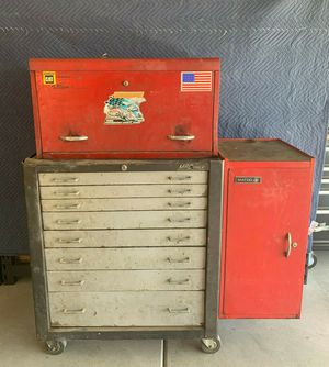 Vintage MAC Tools 8 drawer Toolbox/ Snap-On KRA-61B/ MATCO MB-302 for Sale in Rialto, CA