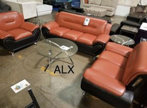 Black red leather Sofa & couch & loveseat & chair & Living Room Set for Sale in Houston, TX