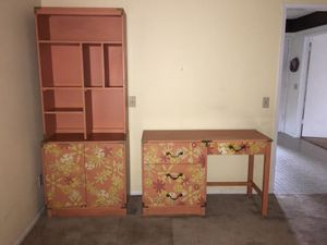 Antique Bookcase with Matching Desk for Sale in Riverside, CA