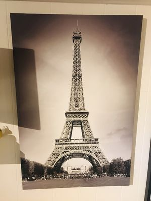 Beautiful Black & White Eiffel Tower Paris Framed Canvas Art 3ft x 2ft for Sale in Kensington, MD