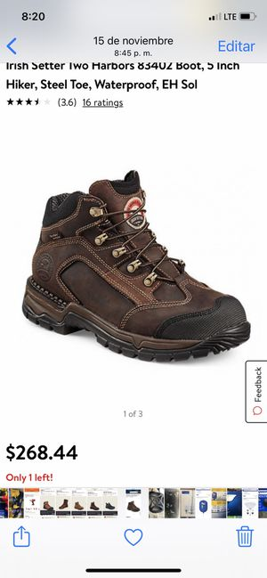 RED WING SIZE 9 WITH IRISH SETTER 5 INCHES TALL SAFETY TOE BOOTS BRAND NEW for Sale in Vallejo, CA