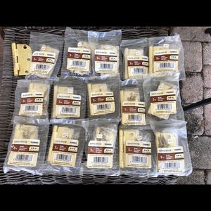 Satin brass hinges Quantity 15 $15 for all for Sale in Port St. Lucie, FL