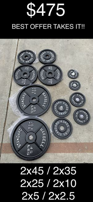Standard Weight Plates - Full Set for Sale in Cudahy, CA