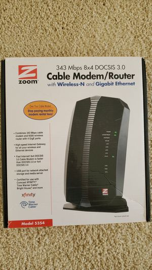 343 Mbps 8x4 DOCSIS 3.0 Cable Modem/Router for Sale in Irvine, CA
