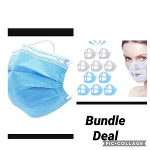20 Piece Face Mask & LIDYCE LIDYCE 3D face shields Bracket Mouth Separate Inner Stand Holder Breathing Space 10PCS for Sale in Redlands, CA