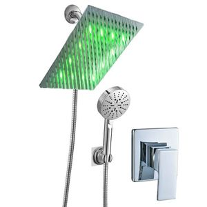 "8"" led stainless steel shower head one way chrome mixer rough-in for Sale in Chino Hills, CA"