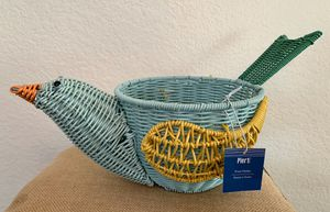 """Pier 1 """"Carnival Bird Fruit/Plant Holder"""" NWT for Sale in San Diego, CA"""