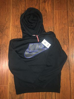 SUPREMExNIKE LEATHER LOGO HOODIE for Sale in Los Angeles, CA