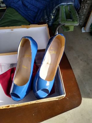 CL red soles dodger blue heels 7 for Sale in Rancho Cucamonga, CA