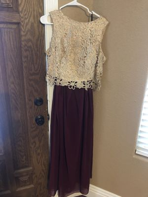 Burgundy Gold Prom Dress for Sale in Las Vegas, NV