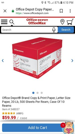 Office Depot standard paper. Open box! for Sale in Smyrna, TN