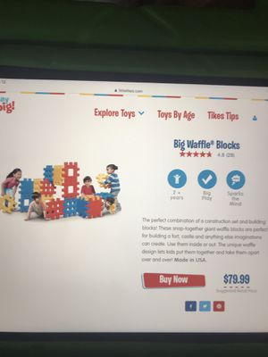 Little tikes big waffle block set for Sale for sale  Humble, TX