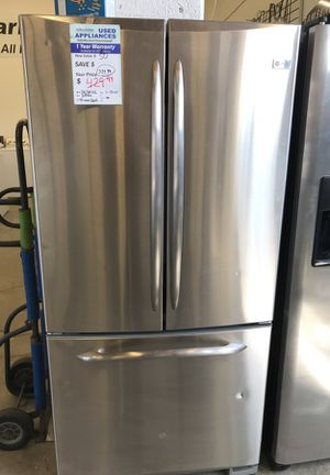 Ge profile stainless frenchdoor refrigerator for Sale in Denver, CO