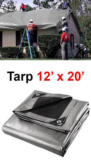 New in box $25 Heavy Duty 12'x20' 10mil Canopy Poly Tarp Reinforced Tent Car Boat Cover Tarpaulin for Sale in South El Monte, CA