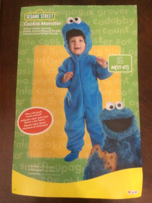 Deluxe Toddler Halloween Costume plush Cookie Monster size 3T-4T for Sale in Aberdeen, WA
