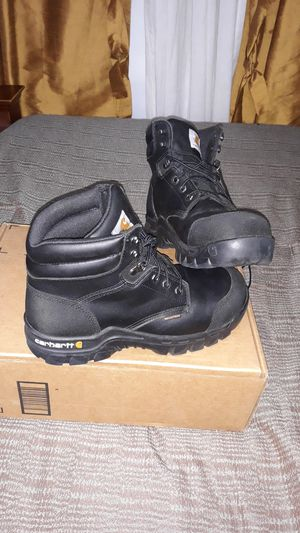 Work boots carhartt punta metal 8.5 for Sale in Miami, FL