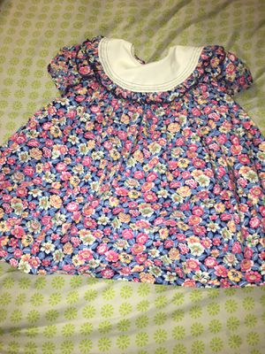 Vintage Polly Flinders Girls Dress Size 4 Blue with Pink, White, and Orange Flowers for Sale in Fort Worth, TX