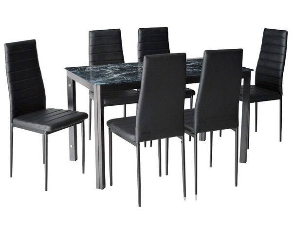 Marble Kitchen table set for 6