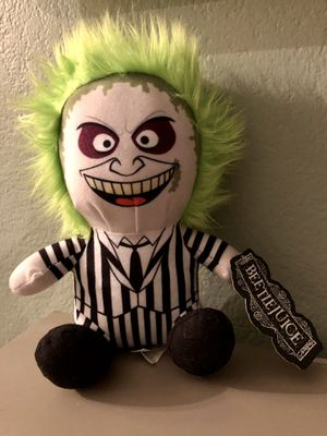Warner Brothers—Beetlejuice Toy Horror Monsters Plush, Collectible. New with tags—Great for Halloween for Sale in Corona, CA