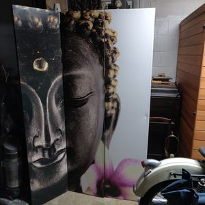 Buddha Double Sided Tri-foldPartition / Privacy Screen for Sale in Hillcrest Heights, MD