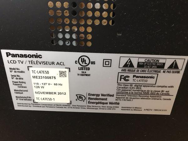 Panasonic 50 inch LCD TV