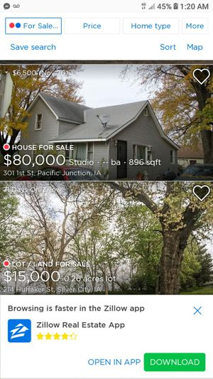 4 bedroom 2 lots big home 301 first street Pacific junction iowa 51561 75,000.00 for Sale in Carter Lake, IA