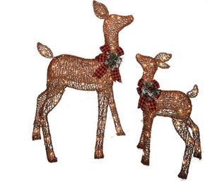 Holiday Time light up outdoor 2piece reindeer family decor christmas time for Sale in Long Beach, CA
