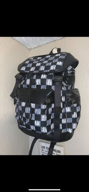 NEW! COACH MEN'S BAG! Terrain Trek Graphic Checkered Backpack! Real price $582 Selling it For only $299!! for Sale in Olympia, WA
