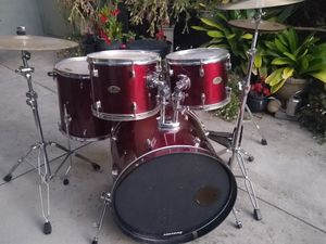 Pearl Drumset with Cymbals + Hardware for Sale in Santa Cruz, CA