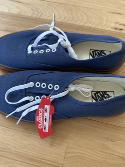 New Vans Authentic Gum Soles Size 12 (Navy blue) for Sale in Portland,  OR
