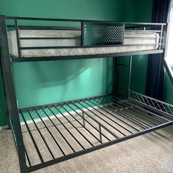 Metal Bunk Bed Twin Over Full (twin Mattress Included)
