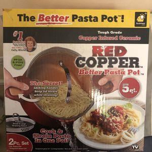 Red Copper Pasta Pot for Sale in Metairie, LA