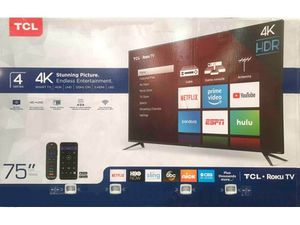 """TCL 75"""" Class 4K UHD LED Roku Smart TV (75S421) for Sale in Gastonia, NC"""