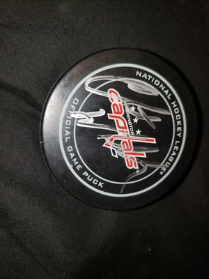Clint Malarchuk signed puck for Sale in East Moline, IL