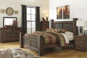 Quinden ddDark Brown Poster Bedroom Set for Sale in Hyattsville, MD