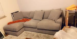 Grey Sofa with chaise- W/Macy's 5 year warranty for Sale in San Jose, CA