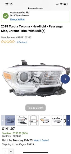 2018 Tacoma Headlights for Sale in Henderson, NV