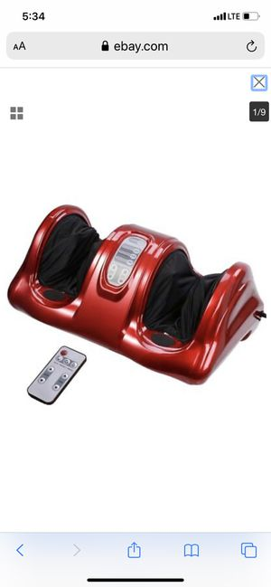 Shiatsu Foot Massager Kneading Rolling Leg w/ Remote Home Health Care for Sale in Bellflower, CA