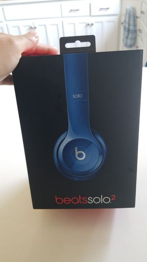 Beats solo 2 with box blue. for Sale in Seattle, WA