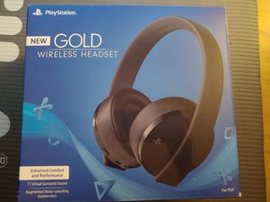PlayStation Gold Wireless Headset for Sale in Hartford, CT